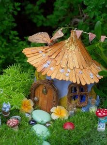 Popsicle stick fairy garden- You may like the rest of the 24 ideas too