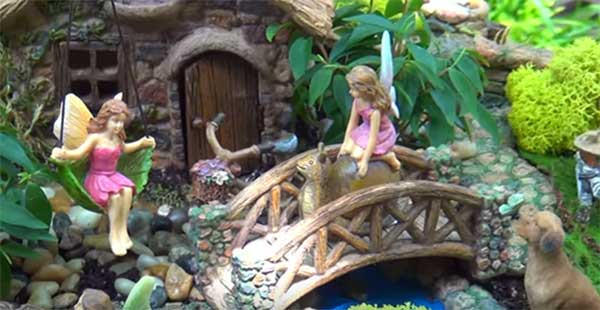 how to build a fairy garden using statues