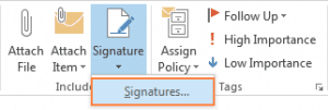 how to add a college student email signature into outlook