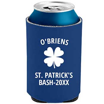 Personalized Men's Beer Can Cooler For Sports Loving Boyfriend