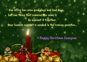 merry christmas greetings to your collegues